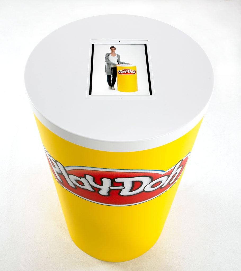 Rund disk med plass for ipad