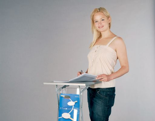 Messebord med 2xA4 brosjyrelommer