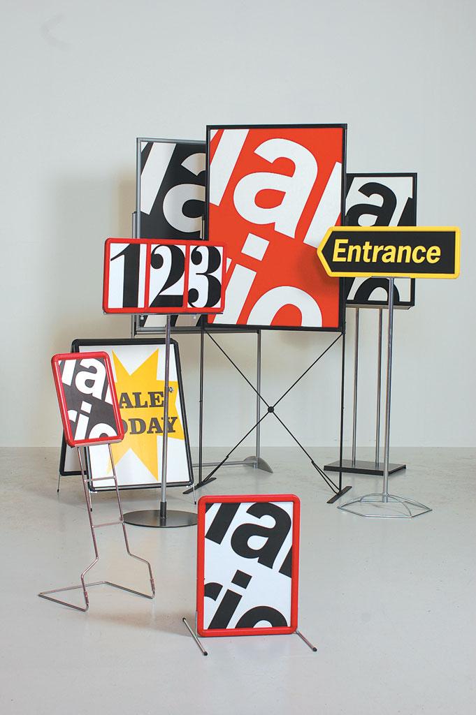 Plakatstativ for gulv