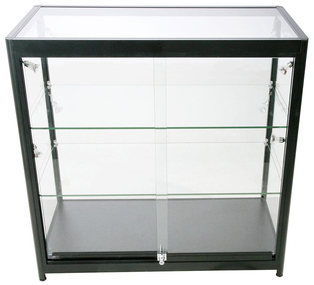 Glasskap, lav modell uten underskap