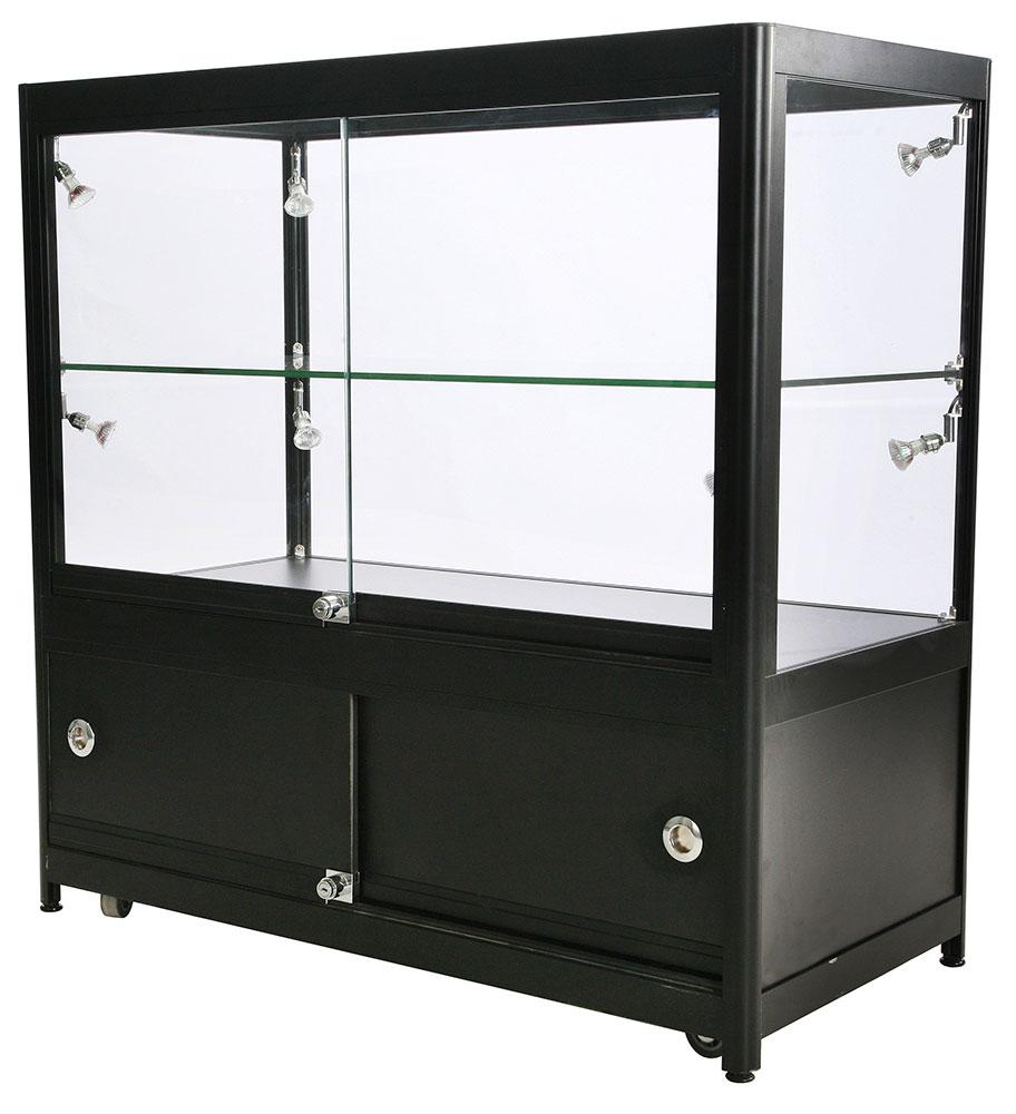Glassmonter lav modell, hylle og underskap