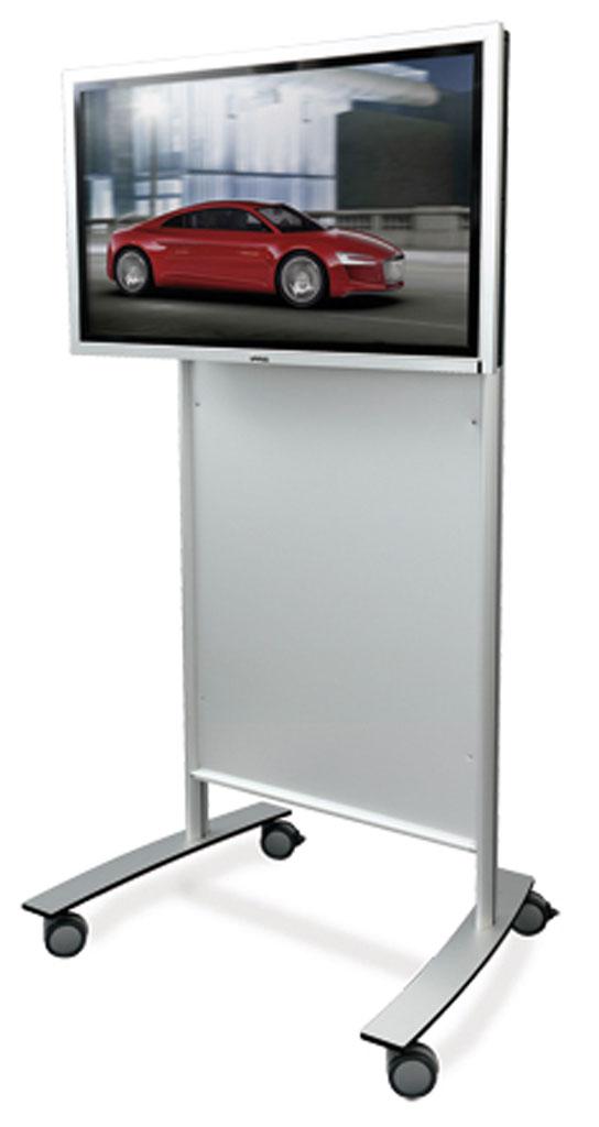 TV stativ med dekorplate og hjul