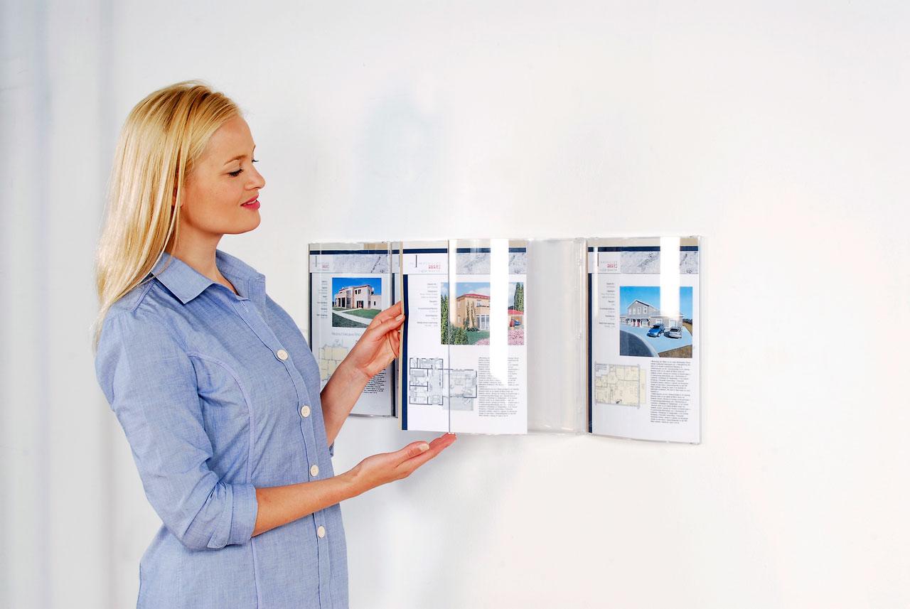 Reklamebærer på vegg